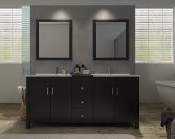 double sink vanity set in espresso