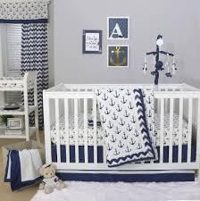 The Peanut Shell 3 Piece Baby Crib Bedding Set Navy Blue Anchor Modern Baby Bedding Sets Uk