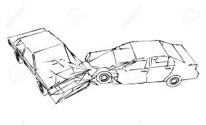 Car crash accident sketch stock photo picture and royalty free