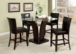 Cherry Wood Kitchen Table Sets Furniture Of America