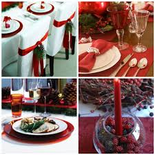 red christmas table decorations. Innovative Red Christmas Table Decorations And