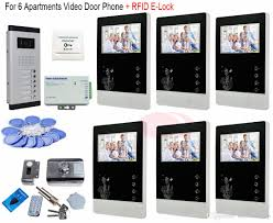 For 6 Apartments Professional Smart Home 4.3 Inch Video Intercom ...