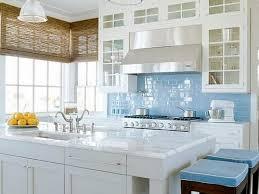 interior blue glass tile backsplash for kitchen within blue glass backsplash tile ideas from blue