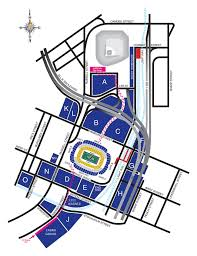 directions to stadium lots view parking diagram