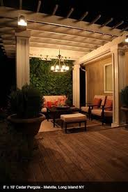 outdoor pergola lighting ideas. Pergola Lighting Can Be A Permanent Outdoor Chandelier. Ideas