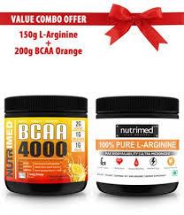 nutrimed l arginine bcaa orange pre post workout bo