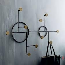 Wrought Iron Wall Coat Rack Stunning Modern Minimalist Wrought Iron Wall Circle Hook Feature Creative