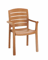 outdoor wooden chairs with arms. Grosfillex Acadia Teakwood Classic Stacking Synthetic Wood Outdoor Dining Restaurant Arm Chair - Call For Special Pricing! Wooden Chairs With Arms