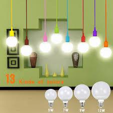 whole 13 color fashion lamp holder diy cord pendant light droplight 5w 7w 9w 12w