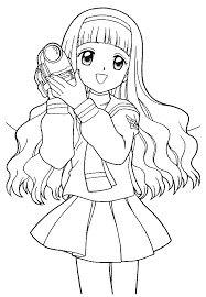 Small Picture coloring pages draw a girl coloring pages anime girl coloring