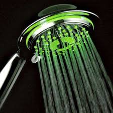 4 spray setting led handheld shower in chrome