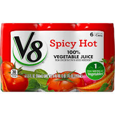amazon v8 100 vegetable juice y hot 5 5 oz can 6 count prime pantry