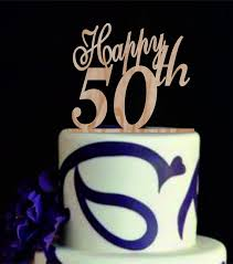 Happy 50 Th Cake Topper50th Birthday Cake Topper50 Years Etsy