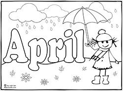 Small Picture Months of the year coloring pages Education Pre School