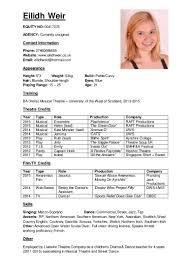 Musical Theatre Resume CV 50