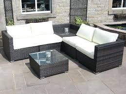 garden sofa rattan outdoor sofa set with corner table garden furniture in black brown grey ikea garden sofa