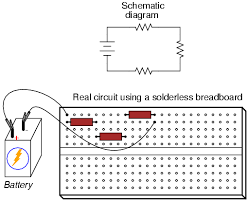building simple resistor circuits series and parallel circuits for example the three resistor circuit just shown could also be built on a breadboard like this
