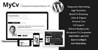 bootstrap resume template curriculum vitae wordpress free cv