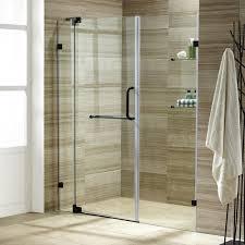 frameless shower door hinges seal