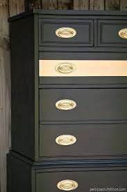 black painted furniture ideas. metallic gold stripe adds drama to bedroom furniture black painted ideas t