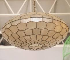 image of bronze capiz chandelier