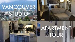 Ft Studio Apartment Tour In Vancouver Canada Youtube