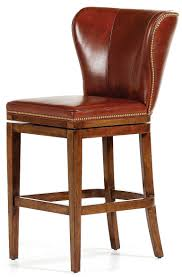 brown leather bar stools. BAR AND COUNTER STOOLS Brown Leather High Back Bar Stool Stools A