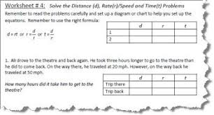Rate Times Time Equals Distance Chart All Inclusive Rate Times Time Equals Distance Chart Rate