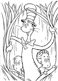 Small Picture Coloring Pages Dr Seuss Hat Coloring Page Cat In The Hat