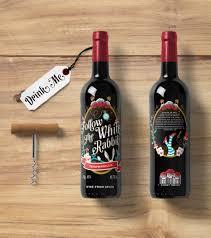 Alice in Wonderland-inspired wine label