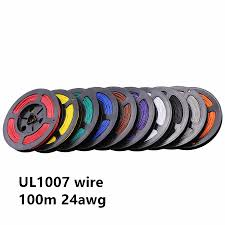 <b>100M</b>/lot <b>328ft UL</b> 1007 24 AWG Cable Copper Wire 24awg ...