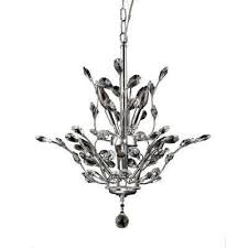 leah 8 light chrome indoor leaf like crystal chandelier with shade
