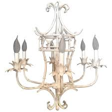 faux bamboo paa chandelier vintage chinese chippendale metal palm beach