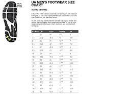 00924698a9b3 Under Armour Size Chart Grade School Jordans