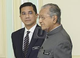 Image result for images of azmin and mahathir