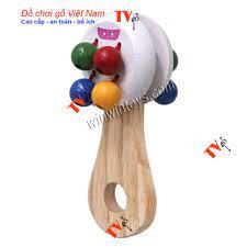 Bộ đồ chơi gỗ cho bé nhỏ dưới 1 tuổi | Bộ lục lạc 8 bi bằng gỗ cho bé | Đồ  chơi gỗ Việt nam chính hãng 65,000đ