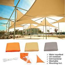 Solar Lights Gazebo Canopy 90 Sun Shade Rate Tents Outdoor Sun Shelter Triangle Tent