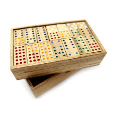 Board Games In Wooden Box Dominoes 100 40