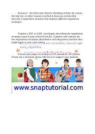 negotiation essay question   essay topicsiscom week  negotiation strategies paper uop hashdoc
