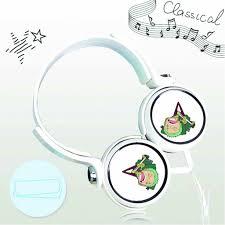Tai nghe chụp in hình Zoro One Piece anime chibi cắm dây có mic - Tai nghe  có dây chụp tai (On-Ear) Thương hiệu OEM