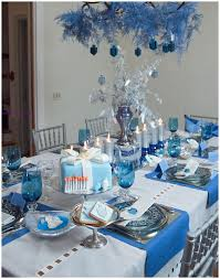 blue and silver centerpiece | ... to IKEA to find what's new and Hanukkah. Holiday  DecoratingHanukkah DecorationsTable ...