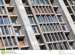 office building facade. Office Building Facade Made Of Gray Concrete Stock Image - Structure, Commercial: 107486163