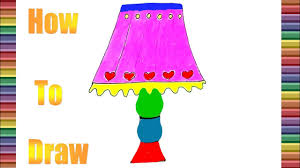 How To Draw And Coloring The Night Lamp Coloring Pages For Kids Drawing For Kids