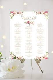 How To Make A Seating Chart Poster Wedding Seating Chart Alphabetical Large Poster