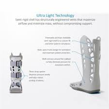 Medical Boot Size Chart Aircast Airselect Standard Walking Boot