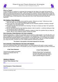 Top 8 Thesis Statement Templates Free To Download In Pdf Format