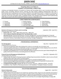 Accounting Internships Resume Examples Accounting Resume Resume Sample Template