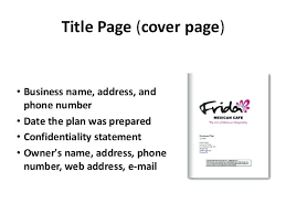 Business Plan Cover Page Business Proposal Cover Sheet Business Plan Cover Page Business