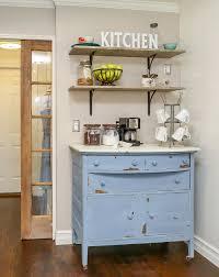 Kitchen Coffee Bar How To Build A Farmhouse Coffee Bar Easy Diy Open Shelves And A