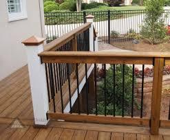 wood deck railing design diy outdoor garden inspiring metal and wood deck railing designs